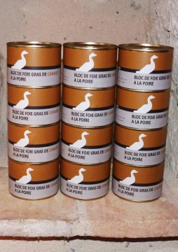 Bloc de foie gras de canard à la poire x 12