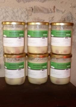 Saucisses confites à la graisse de canard x 6