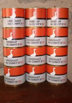 Cassoulet au confit d'oie (615 ou 1200g) x12 / x18
