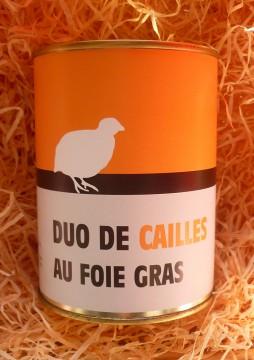 Duo de cailles au foie gras