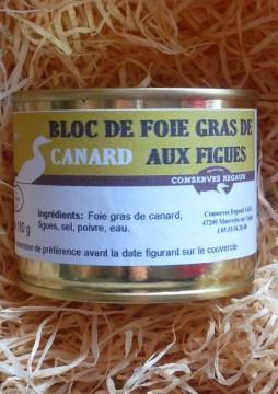 Bloc de foie gras de canard figues