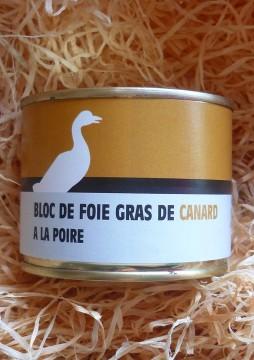 Bloc de foie gras de canard aux poires